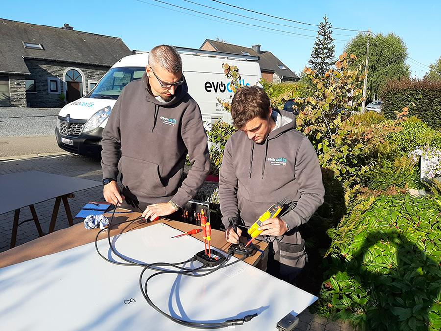 Reparatur von Sonnenkollektoren